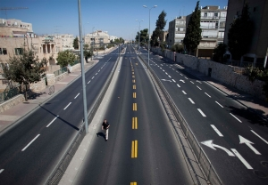 empty-street-in-Jerusalem-during-Yom-Kippur