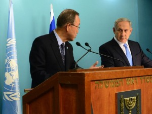 PM Netanyahu meets with UN Sec. Gen. Ban Ki-moon
