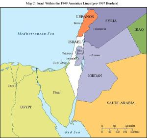israel 1949 map