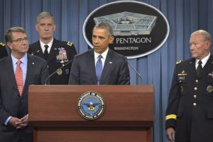 Obama with military leaders