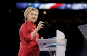 Democratic U.S. presidential candidate Hillary Clinton addresses the American-Israeli Public Affairs Committee (AIPAC) Conference's morning general session at the Verizon Center in Washington March 21, 2016. REUTERS/Joshua Roberts