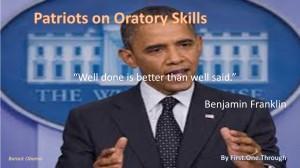 Patriots Oratory