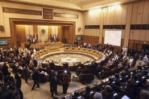 "Foreign ministers of the Arab League countries meet in Cairo March, 9, 2014. The Arab League on Sunday endorsed Palestinian President Mahmoud Abbas's rejection of Israel's demand for recognition as a Jewish state, as U.S.-backed peace talks approach a deadline next month. The United States want Abbas to make the concession as part of efforts to reach a ""framework agreement"" and extend the talks aimed at settling the decades-old Israeli-Palestinian conflict. REUTERS/Stringer (EGYPT - Tags: POLITICS)"