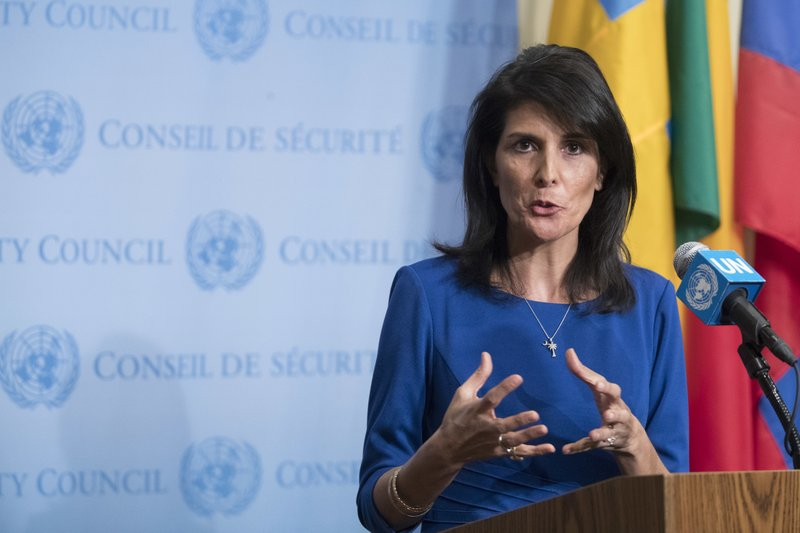 ... to the United Nations Nikki Haley at her first press conference