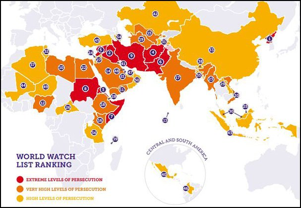 Are MuslimMajority Countries AntiChristian FirstOneThrough - Christian countries in the world map