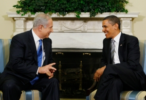 FILE - In this May 18, 2009 file photo, President Barack Obama meets with Israeli Prime Minister Benjamin Netanyahu in the Oval Office of the White House in Washington. For six years, Obama and Netanyahu have been on a collision course over how to halt Iran's nuclear ambitions, a high-stakes endeavor both men see as a centerpiece of their legacies. The coming weeks will put the relationship between their countries, which otherwise remain stalwart allies, to one of its toughest tests. (AP Photo/Charles Dharapak, File)